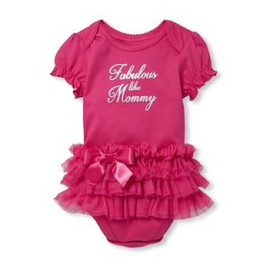 💕 Fabulous Like Mommy Tutu Graphic Bodysuit